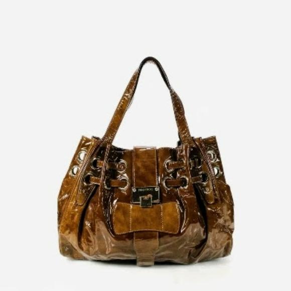 Jimmy Choo Handbags - 💜💜JIMMY CHOO💝💝PATENT LEATHER RAMONA TOTE💜💜